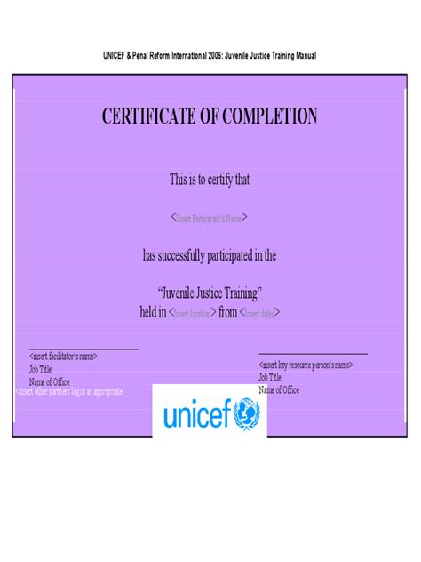 certificate  completion   templates   word