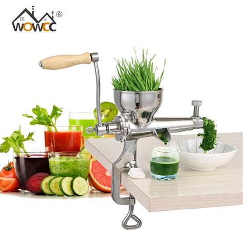 juicer wheatgrass manual stainless wheat steel grass vegetable auger slow bl juice fruit hand squeezer orange press