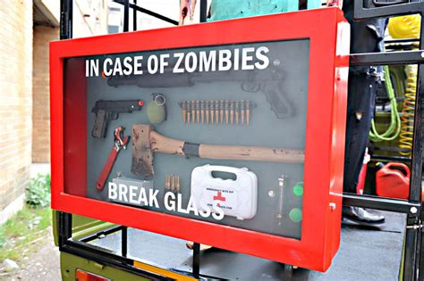 zombie hunting truck hits  streets sign media