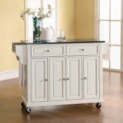 kitchen islands shop crosley furniture white craftsman kitchen island at lowes