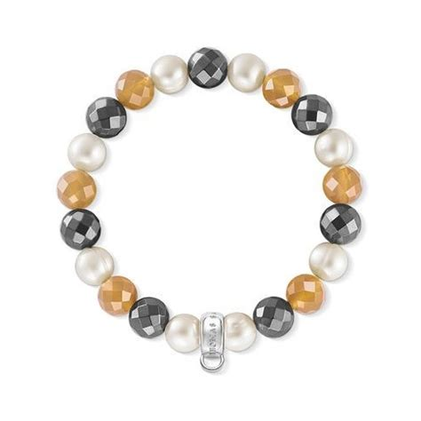 Agate, Hematite & Pearl Charm Carrier Bracelet X01966667. Big Gold Pendant. 52 Carat Diamond. Little Diamond. India Watches. Bangle Shop. Luminox Watches. Purse Bracelet. Western Wedding Rings