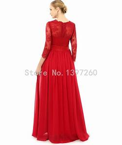 robes longues avec manches longues With robe rouge manche longue