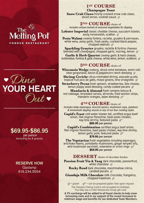 melting pot gasl s day menu cohn restaurant