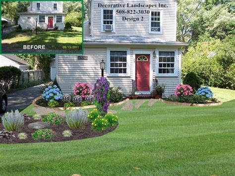 cottage landscaping ideas for front yard front yard cottage style landscape design with island bed front of home landscape designs