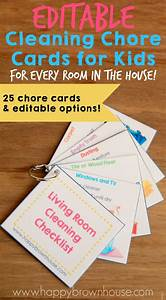 Editable Chore Cards For Kids Home Places And Chore Cards