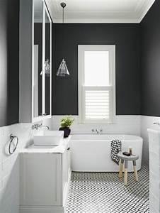 vous cherchez des idees pour un carrelage noir et blanc With salle de bain faience noire