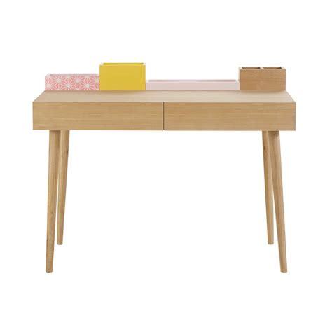 bureau 110 cm bureau en bois l 110 cm lea maisons du monde
