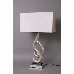 Abat Jour Design : lampe design courbes argent et abat jour dor achat ~ Melissatoandfro.com Idées de Décoration