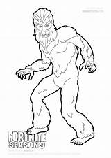 Bigfoot Fortnite Coloring Draw Pages Season Cute Yeti Skin Print Step Drawing Easy Excelent Atl Wall sketch template