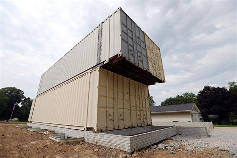 industrial housing shipping container home  shape