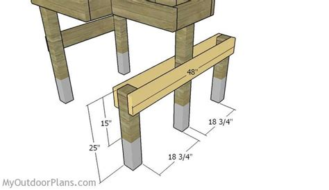 fitting  seat supports shooting bench plans