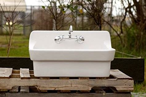 small ceramic kitchen sinks vintage style high back farm sink original 5360