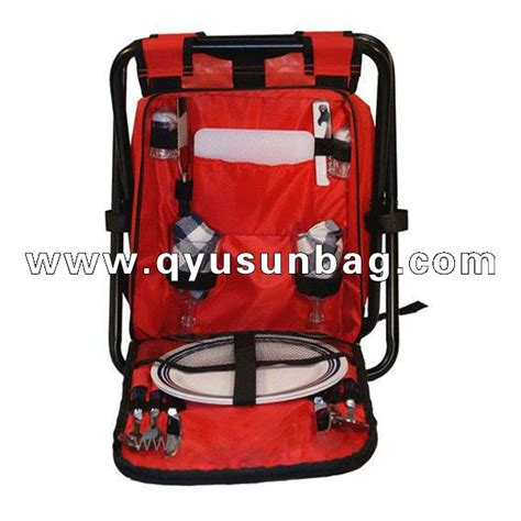 folding insulated cooler chair backpack china promotional