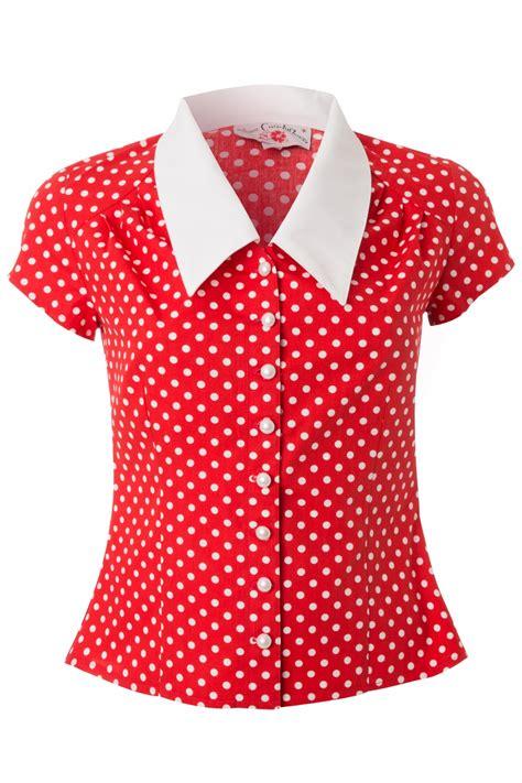topvintage exclusive avalon blouse  red  white