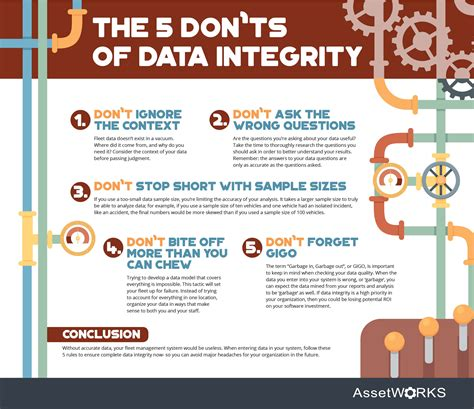 The 5 Don'ts of Data Integrity   Infographic   AssetWorks