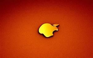 Black and White Wallpapers: Golden Apple Logo Wallpaper