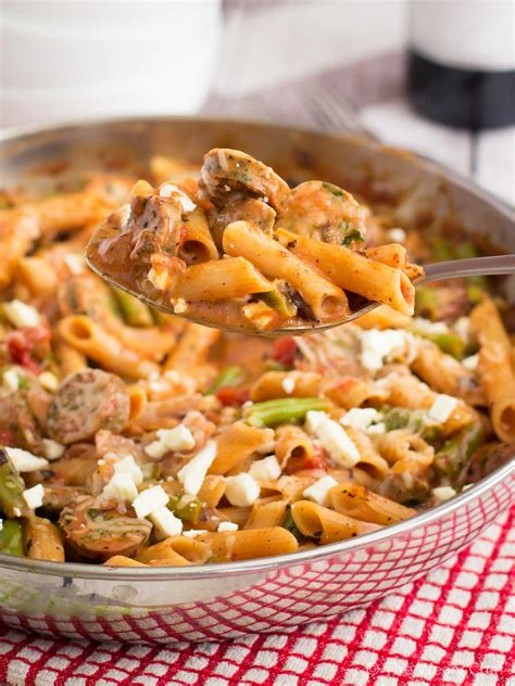 italian sausage pasta skillet recipe the weary chef