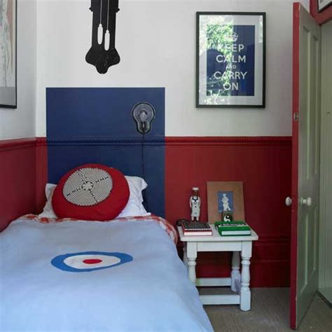 Classic Red And Blue Boys' Bedroom  Boys Bedroom Ideas