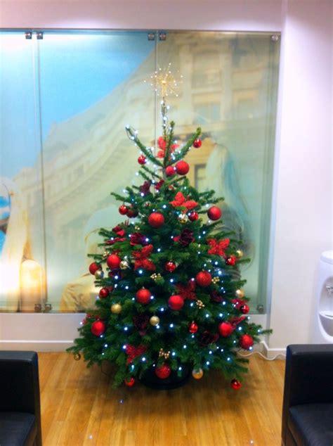 corporate christmas trees flowers by flourish