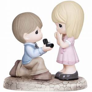 """Engagement Gifts, """"Will You Marry Me?"""", Bisque Porcelain"""