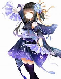 Anime, Girls, In, Yukata