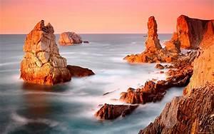 Monumental, Rocks, In, A, Beautiful, Seashore, Wide, Wallpaper, 339319, Wallpapers13, Com