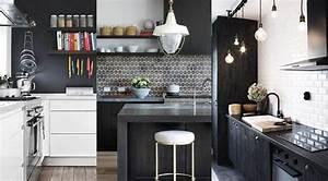 cuisine noir et blanc 20 idees decoration cuisine noir With cuisine equipee noir et blanc