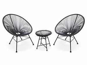 Salon De Jardin Acapulco : salon jardin alios style acapulco 2 chaises 1 table ~ Teatrodelosmanantiales.com Idées de Décoration