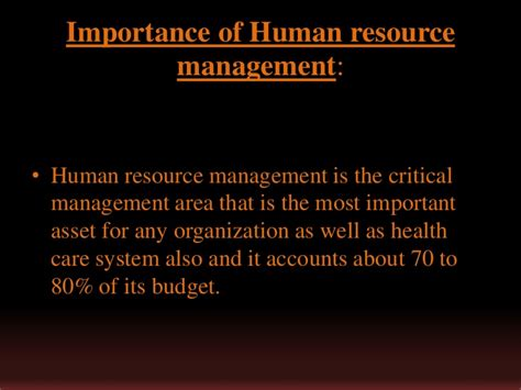 processes importance  human resource management