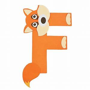 """""""F Is For Fox"""" Letter F Craft Kit - Oriental Trading"""