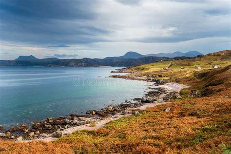 Scenic North Coast Route Scottish Highlands Stock