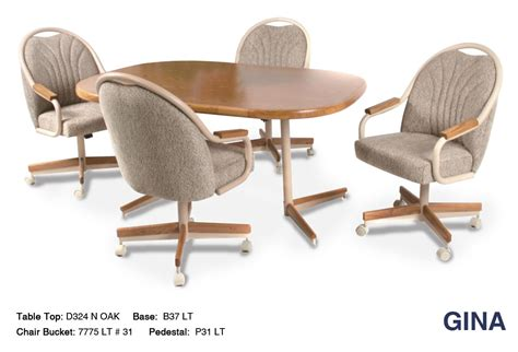 dinette sets with caster chairs douglas casual living swivel caster dinette set