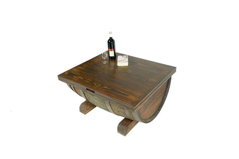 Attach the whiskey barrel to the base using 3 inch wood screws. Ale Cask Coffee Table With Storage | Highland Wolf