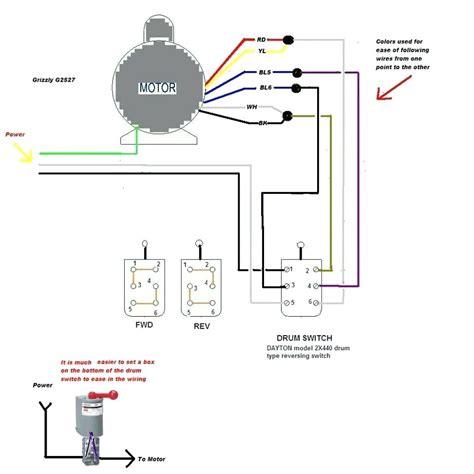 diagram wiring diagram dayton reversible motor