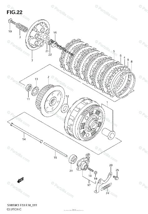Suzuki Motorcycle Oem Parts Diagram For Clutch