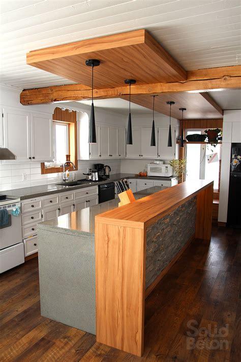 comptoir ilot cuisine pin ilot de cuisine avec comptoir bar une atmosphère très