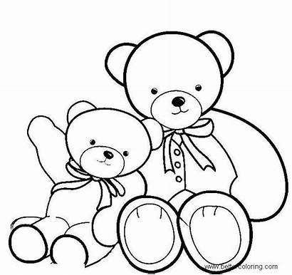 Bear Coloring Teddy Pages Bears Build Colouring
