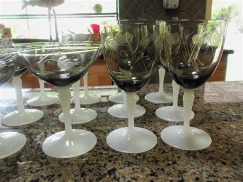 Etched Crystal Stemware Set / Steuben And Williams / White