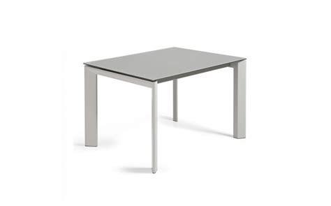 table extensible verre trempe table extensible en verre tremp 233 atlas gris 120