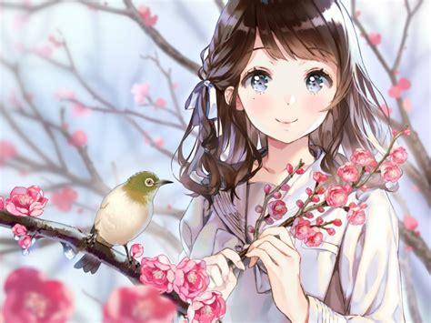 Anime Cherry Blossom Wallpaper - desktop wallpaper birds cherry blossom anime