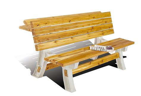 Picnic Table Bench Kit by Flip Top Convertible Benchtable Kit Dudeiwantthat