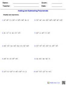 evaluating expressions worksheets pre algebra worksheets monomials and polynomials worksheets