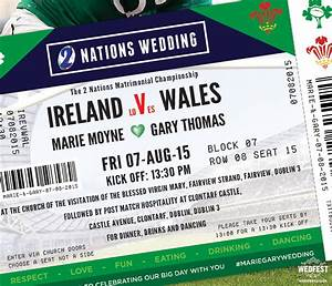 rugby ticket wedding invitations wedfest With wedding invitations prices ireland