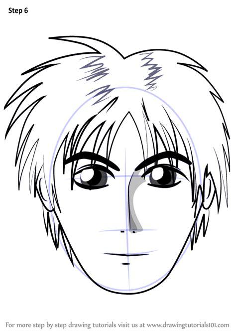 learn   draw anime boy face face step  step