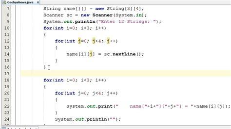 string  array input  user  java