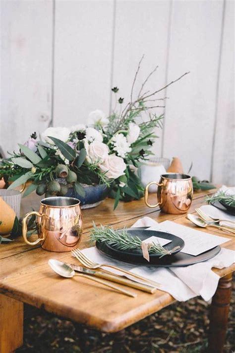 copper  greenery wedding color ideas deer pearl