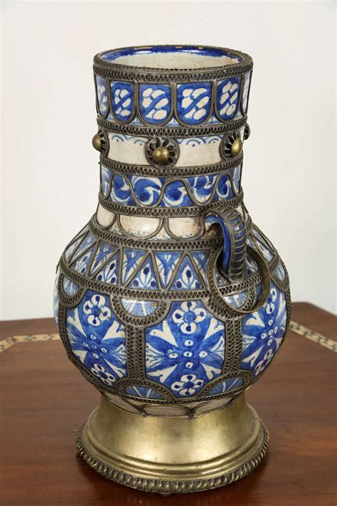 Moroccan Vases by Antique Moroccan Ceramic Vase For Sale At 1stdibs