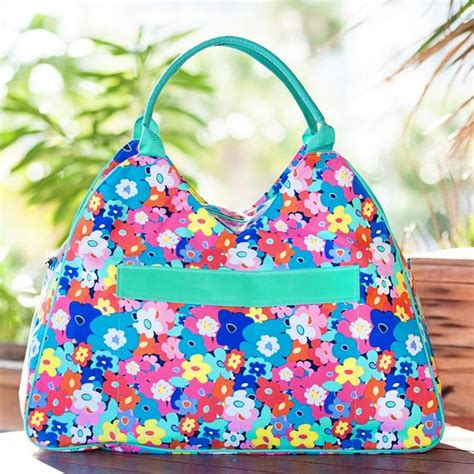 monogram beach bag poppy pattern monogram included add