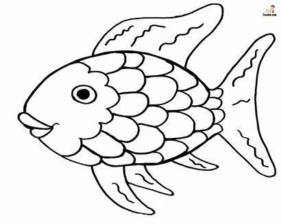 Fish Rainbow Coloring Printable Colorful Resembles Bright