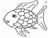 Fish Rainbow Coloring Printable Colorful Resembles Bright sketch template